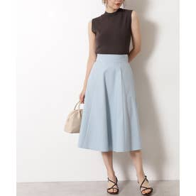 ツイルフレアスカート ブルー