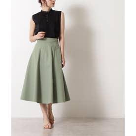 ツイルフレアスカート ライトグリーン