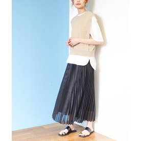 シャイニープリーツスカート ブラック