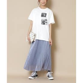 シャイニープリーツスカート ブルー