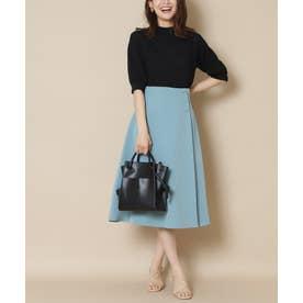 サイドボタンフレアスカート《S Size Line》 ブルーグリーン