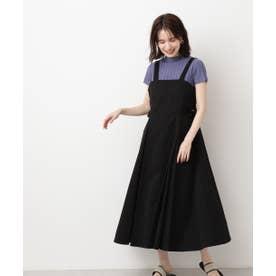 サイドウエストベルトジャンパースカート ブラック