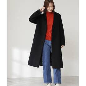 《WEB限定商品》アンゴラビーバーカラーレスコート《S Size Line》 ブラック