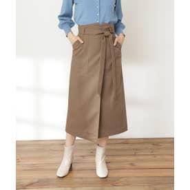 リボンベルトポケットスカート《S Size Line》 モカ