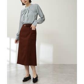 ベルト付ポケットタイトスカート《S Size Line》 ブラウン