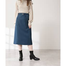 ベルト付ポケットタイトスカート《S Size Line》 ブルー