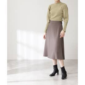 ウエストステッチフレアスカート《S Size Line》 モカ
