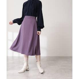 ウエストステッチフレアスカート《S Size Line》 パープル