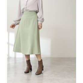 ウエストステッチフレアスカート《S Size Line》 ライトグリーン