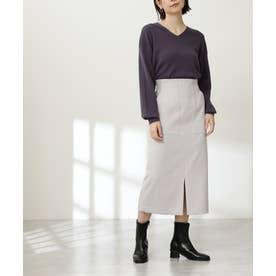 カルゼストレッチタイトスカート《S Size Line》 ライトグレー