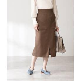 カルゼストレッチタイトスカート《S Size Line》 モカ