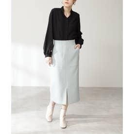 カルゼストレッチタイトスカート《S Size Line》 ライトグリーン