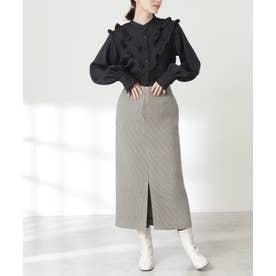 イージーケアガンクラブタイトスカート《S Size Line》 グレーチェック1