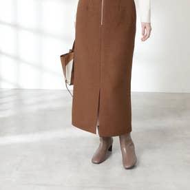 イージーケアガンクラブタイトスカート《S Size Line》 ブラウンチェック1