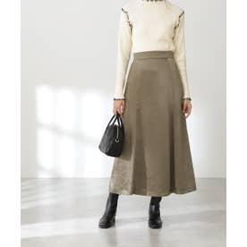 モッタリサテンマーメイドスカート《S Size Line》 カーキ