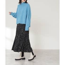 プリントマーメイドスカート《S Size Line》 ブラックベースドット1