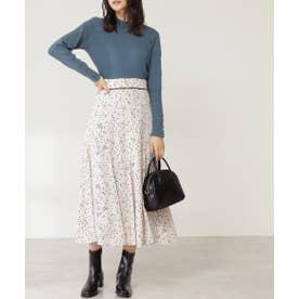 プリントマーメイドスカート《S Size Line》 ナチュラルベースドット1