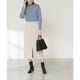 フロントスリットタイトスカート《S Size Line》 ナチュラル