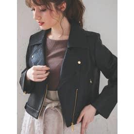 ライダースジャケット (黒)