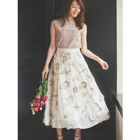 3D刺繍スカート (オフホワイト)