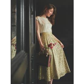 パンチングエコレザースカート (グリーン)