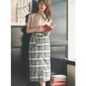 キルティングタイトスカート (ミックス1)