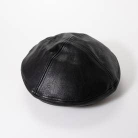 フェイクレザーベレー (黒)