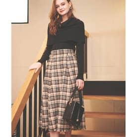 ツィードスカート (黒)