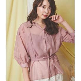 シアーチュニックシャツ (ピンク)