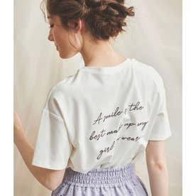 バックロゴゆるティシャツ (オフホワイト)