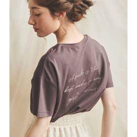 バックロゴゆるティシャツ (ブラウン)