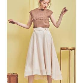 フィッシュテールカラースカート (オフホワイト)
