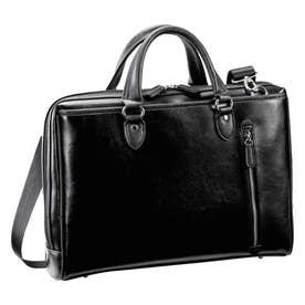 ノーブランド No Brand HAMILTON ハミルトン 大割れ両アオリビジネスバッグ (黒)