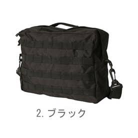 ノーブランド No Brand ミリタリー商品 USタイプ MOLLEショルダーバッグ #BS076YN (2.ブラック)