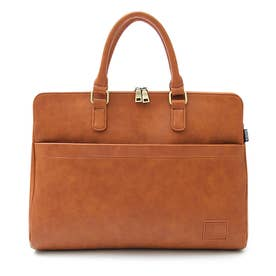 SYNTHETIC LEATHER BRIEFCASE (CAMEL(スムース))