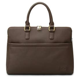 SYNTHETIC LEATHER BRIEFCASE (DARKBROWN-A)