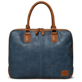 SYNTHETIC LEATHER BRIEFCASE (NAVY)