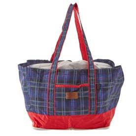 ノーブランド No Brand お買い物バッグ Okaimono bag2 保冷保温レジカゴバッグ (af6037.チェックネイビー)