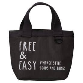 ノーブランド No Brand ネイティブハート ランチトートバッグ FREE & EASY ショート (764657.ブラック)