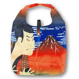 エコ な ショッピングバッグ (歌舞伎×赤富士)