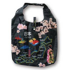 エコ な ショッピングバッグ (日本地図(黒))