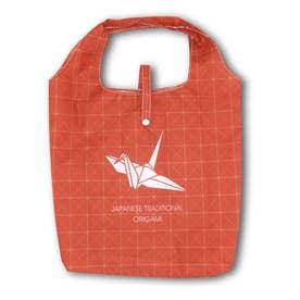エコ な ショッピングバッグ (折り紙鶴)