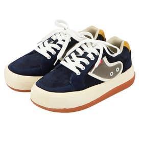 GODDESS Boarder Sneakers 厚底スニーカー (ネイビー)