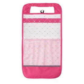 キラキラ ポケット付透明ランドセルカバー (ピンク)