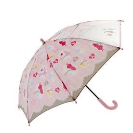 ATTAIN アテイン 女児 1コマPOE グラスファイバー骨 安全手開き 長傘 45cm (1329.pink)