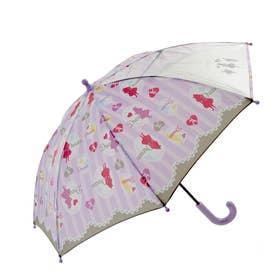 ATTAIN アテイン 女児 1コマPOE グラスファイバー骨 安全手開き 長傘 45cm (1329.purple)