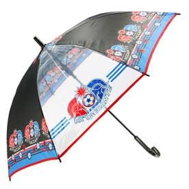 ノーブランド No Brand amusant sous la pluie 耐風 55cm ジュニア長傘 透明窓 (24420.アタッキング_ブラック)