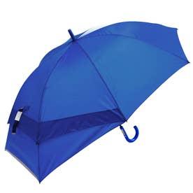 大きく広がる子供スライド傘 55cm (sl2048無地ブルー)