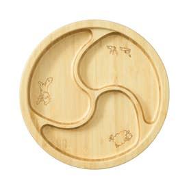 ノーブランド No Brand 木製 キッズプレートセット (ぐるぐる)