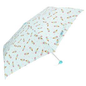 アテイン ATTAIN 女児軽量ミニポンジー 折りたたみ傘55cm (5204アイスクリームサックス)